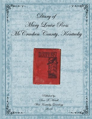 Diary of Mary Louise Ross, McCracken County, Kentucky