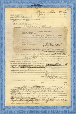 1924 State of Kentucky vs. Ida Wiggins,  Graves County, Kentucky