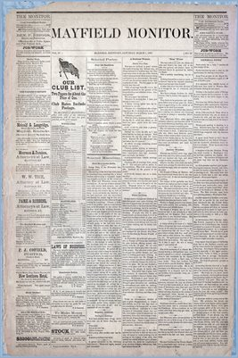 (Pages 1-2) Mayfield Monitor, MARCH 01,1879