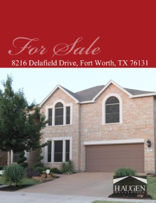 Haugen Properties - 8216 Delafield Drive, Fort Worth, Texas 76131