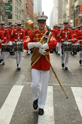 US Marine marching band