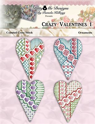 Crazy Valentine Ornaments 1 Cross Stitch
