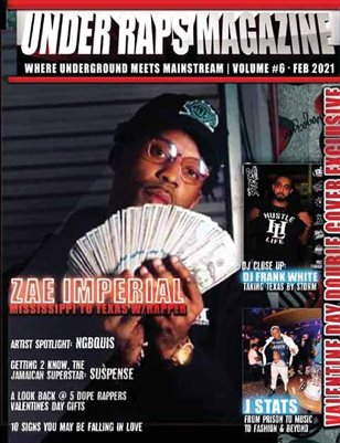 Under Raps Magazine Vol 6 Valentines Day Double Cover Exclusive Featuring Zae Imperial