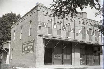 FARMERS & TRADERS BANK, SMITHVILLE, EVANS BLOCK, TENNESSEE