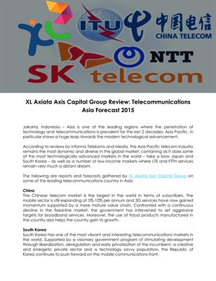 XL Axiata Axis Capital Group Review: Telecommunications Asia Forecast 2015
