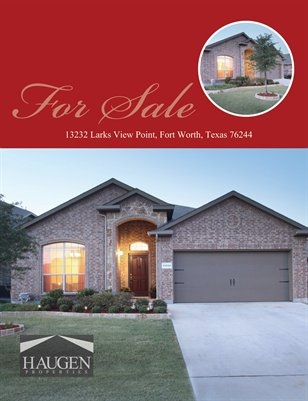 Haugen Properties - 13232 Larks View Point, Fort Worth, Texas 76244