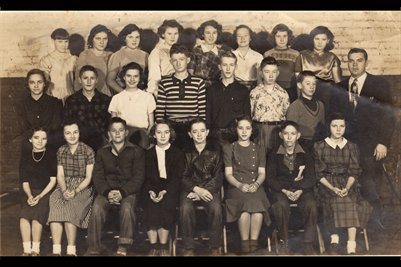 1952 7th Grade, Lowes School Graves County, Kentucky