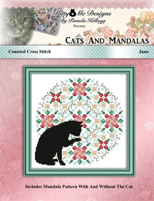 Cats And Mandalas June Cross Stitch Pattern