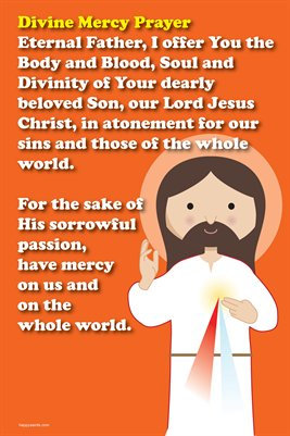 Happy Saints Divine Mercy Prayer Poster