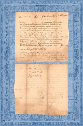 1822 Marriage Certificate, Jethro Howell & Elizabeth White, Maury County, Tennessee