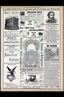 1888 OMAHA, NEBRASKA BUSINESS ADS NO.6