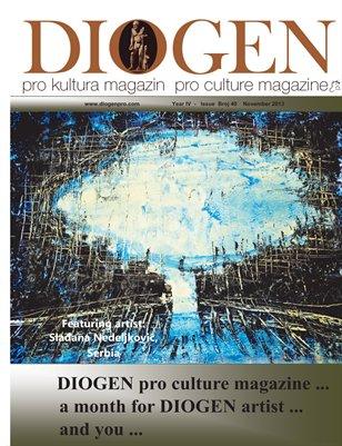 DIOGEN pro art magazine No 40...1.11.2013.