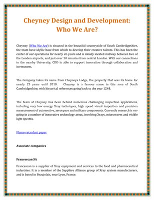 Cheyney Design and Development: Who We Are?