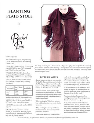 Slanting Plaid Stole