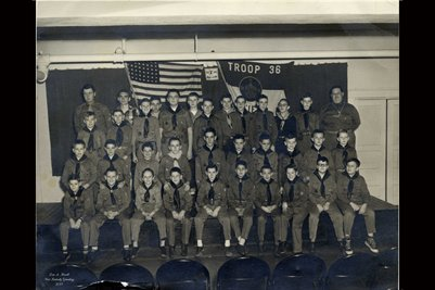Troop 36, Boy Scouts, Mayfield, Kentucky (names on the back)