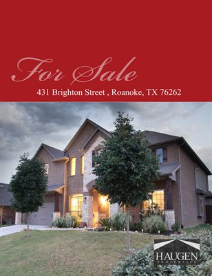 Haugen Properties -  431 Brighton Street, Roanoke, * TX 76262