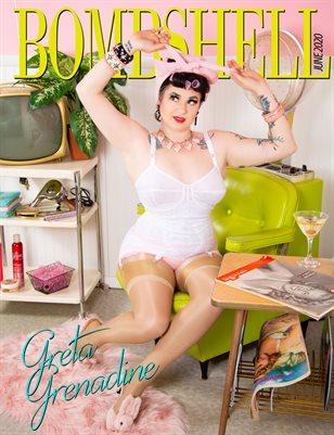 BOMBSHELL Magazine June 2020 - Greta Grenadine Cover
