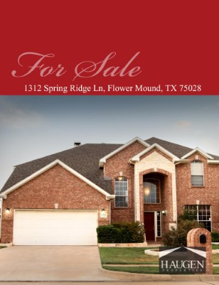 Haugen Properties - 1312 Spring Ridge Lane, Flower Mound, Texas 75028