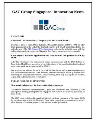 GAC Group Singapore: Innovation News