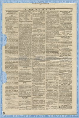 (PAGES 7-8) Portland Transcript, Aug. 13, 1853, Portland, Maine