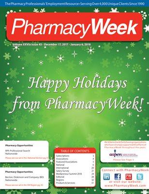 Pharmacy Week, Volume XXVI - Issue 45 - December 17, 2017 - January 6, 2018
