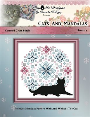 Cats And Mandalas January Cross Stitch Pattern