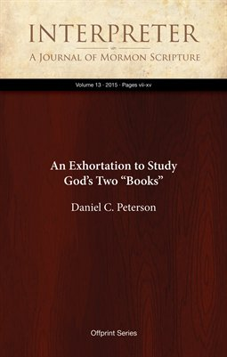 "An Exhortation to Study God's Two ""Books"""