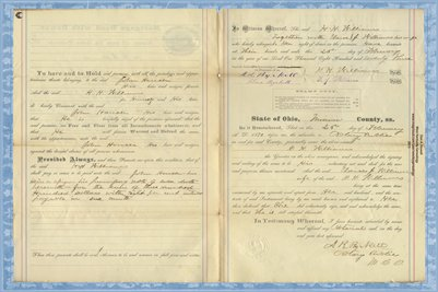 1873 Mortgage, Williams to Houser, Miami County, Ohio