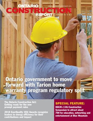 Ontario Construction Report (March 2019)