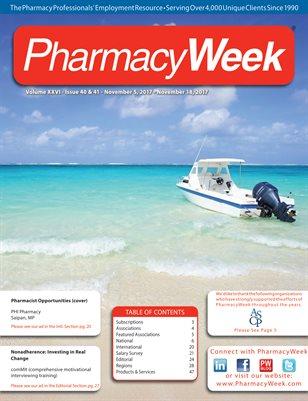 Pharmacy Week, Volume XXVI - Issue 40 & 41 - November 5, 2017 - November 18, 2017