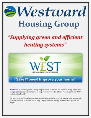 Westward housing group supplying gr magcloud Most efficient heating systems