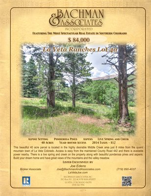 La Veta Ranches Lot 4a