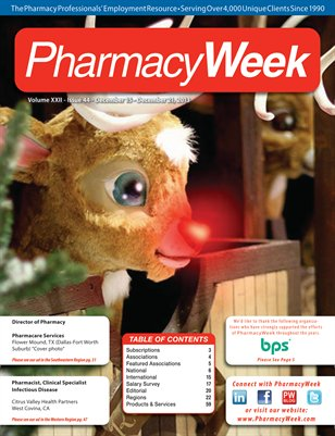 Pharmacy Week, Volume XXII - Issue 44 - December 15 - December 21, 2013