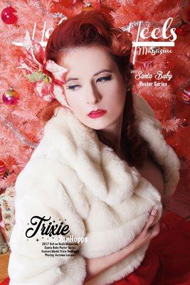 Hell on Heels Magazine Santa Baby Poster Series Trixie VonHopps