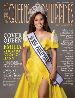 World Class Queens of Philippines Magazine Issue 3 with Emilia Vergara Encabo - Hann