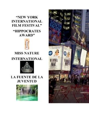 "Festival International de Cine de Turismo de Nueva York ""Hippocrates Award"""