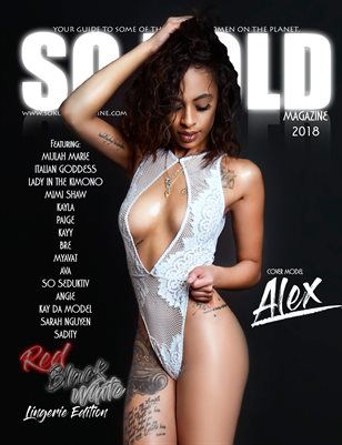 SO KOLD MAGAZINE - RED, BLACK & WHITE LINGERIE EDITION (ALEX COVER)