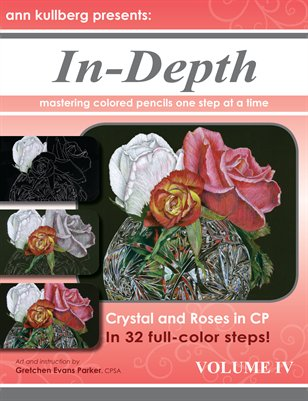 Colored Pencil Crystal & Roses in 32 steps!