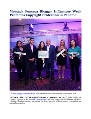 Mossack Fonseca Blogger Influencer Week Promotes Copyright Protection in Panama