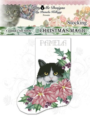 Christmas Magic Stocking Cross Stitch Pattern