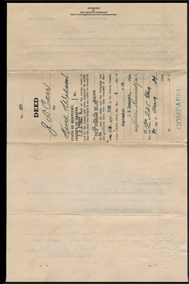 (PAGES 1-2) 1934 DEED, J.D. CARR TO J.E. WILSON & J.U. KEVIL , GRAVES COUNTY, KENTUCKY