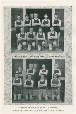 1927-1928 MURRAY STATE TEACHERS COLLEGE BASKETBALL TEAMS