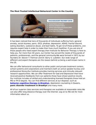 Institute for Behavior Therapy