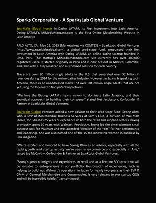 A SparksLab Global Venture, Sparks Corporation