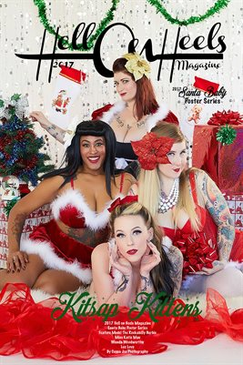 Hell on Heels Magazine Santa Baby Poster Series Kitsap Kittens