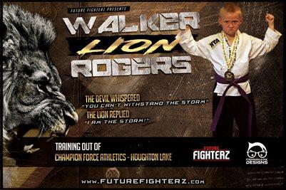 Walker Rogers Lion Poster