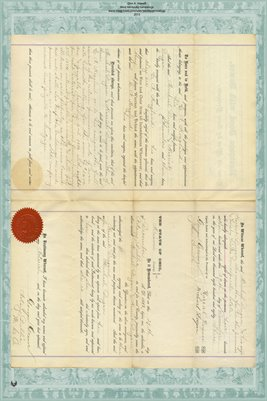 1884 Mortgage, Dugan to Hoagland, Miami County, Ohio