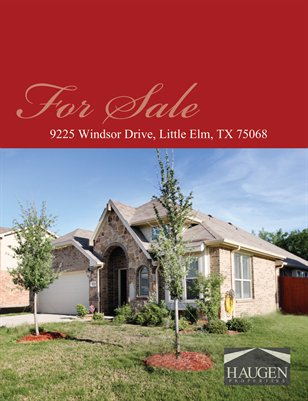 Haugen Properties - 9925 Windsor Drive, Little Elm, 75068 TX