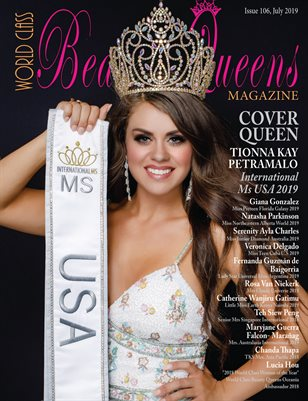 World Class Beauty Queens Magazine Issue 106 with Tionna Kay Petramalo