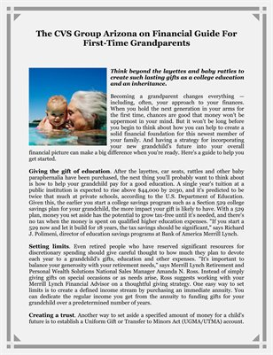 The CVS Group Arizona on Financial Guide For First-Time Grandparents
